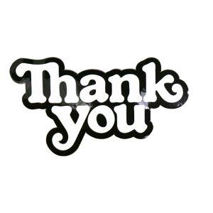 スケボー デッキ スケートボード ブランド ステッカー THANK YOU SKATEBOARDS サンキュー シール Thank You Logo Sticker ストリート オシャレ ファッション アイテム