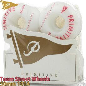 スケボー ウィール 50mm 101A Pennant Arch Team Wheels プリミティブ ペナントアーチ チーム モデル ストリート トリック ハードウィール ホワイト 白 タイヤ