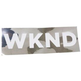 スケボー デッキ スケートボード ブランド ステッカー WKNK ウィークエンド シール WKNK SILVER Sticker (約)ストリート オシャレ ファッション アイテム