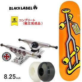 スケボー スケートボード コンプリート 完成品 上級モデル BLACK LABEL ブラックレーベル PRO COMPLETE OG CRUTCH Orange 8.25inch ブランド デッキ インディペンデント トラック コンプリートセット