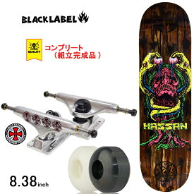 スケボー スケートボード コンプリート 完成品 上級モデル BLACK LABEL ブラックレーベル PRO COMPLETE Omar Hassan BLOOD &GUT 8.38inch ブランド デッキ インディペンデント トラック コンプリートセット