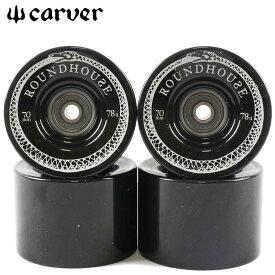 Carver Wheel 純正ウィール 4個セット ベアリングセットConcave Wheel 70mm 78a Smoke スケートボード パーツ Wheel Bearing