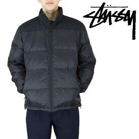 Stussy Puffer Jacket 黒ナイロン 115485