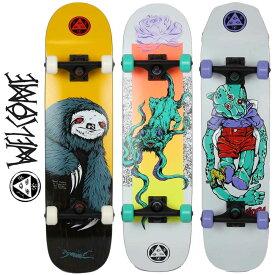 【当店ではボードケースと専用工具付き】スケートボード 純正コンプリート Welcome ウェルカム Sloth / Bactocat / Teddy / Complete 7.75インチ / 8インチ 完成品 初心者