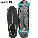 カーバー スケートボード Carverスケボー 31.25 Knox Quill Surf Skate Completeサーフスケート コンプリート トラッ…