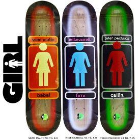 スケボー デッキ スケートボード GIRL ガール プロモデルMIKE CARROLL 93 TIL 8.0inch SEAM MALTO 93 TIL 8.0 TYLER PACHECO 93 TIL 7.75老舗ブランド 板 ガール ブランドデッキ マイクキャロル シェーンモルト タイラーパチェコ