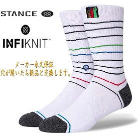 スタンス ソックス ライズアップクルー インフィニット 靴下 永久保証 Stance Socks Rise Up Crew 限定モデル 1足セット メンズ L 25.5-29.0cm メンズ ファッション 小物