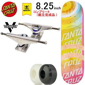 スケボー スケートボード コンプリート 完成品 上級モデル SANTA CRUZ サンタクルーズ PRO COMPLETE Framework Dot VX 8.25inch ブランド デッキ ベンチャー トラック コンプリートセット