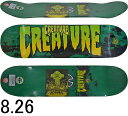 CREATURE クリーチャー スケボー スケートボード デッキ Stained MD Green 8.26inch