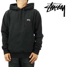 Stussy ステューシー パーカー フード Stock Logo P/O Hoodie ブラック ストック テリー プルオーバー メンズ ストリート ファッション