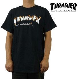 クリックポスト対応スラッシャー Thrasher Tシャツ 半袖 Intro Burner メンズ ブランド ストリート