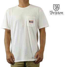 クリックポスト対応Brixton ブリクストン 半袖 Tシャツ Nobel S/S Standard Tee オフホワイト サーフ スケート スノー ウェッジ メンズ トップス