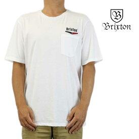クリックポスト対応Brixton ブリクストン 半袖 Tシャツ Velocity S/S Premium Pocket Tee ホワイト サーフ スケート スノー ウェッジ メンズ トップス