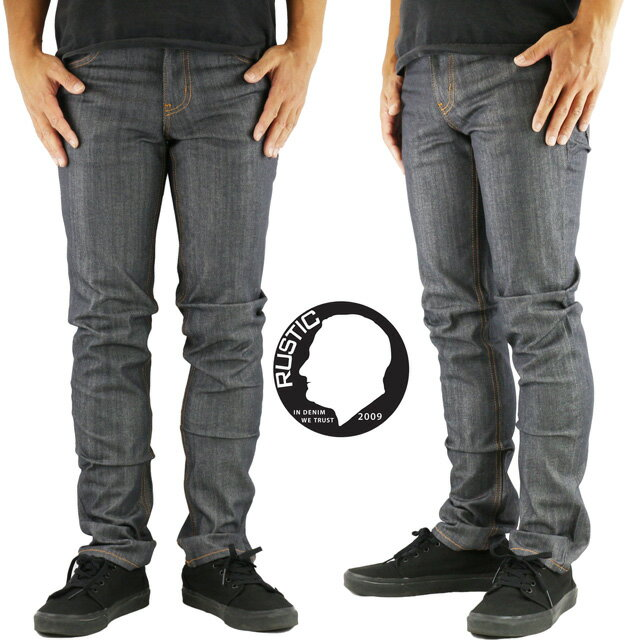 "RUSTIC DIME ラスティックダイム DS110 ""Skinny fit Pants"" スケートボード スケート SK8 パンツ スキニー ストレッチ デニム ジーンズ"