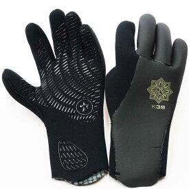 サーフィン グローブ キヌガワ サーフ スキン サーフグローブ TABIE REVO R 3 Glove K39 3mm 完全防水タイプ 手袋 防寒