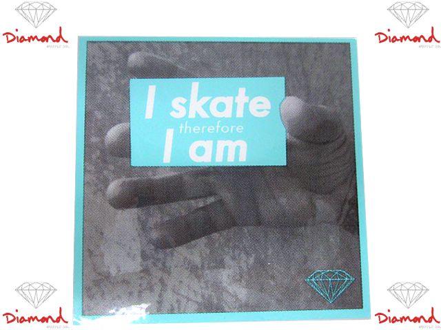 Diamond SUPPLY.CO(ダイヤモンド サプライ) Skate I am Sticker(スケートボード,スケボー,SK8,ハードウェア,ステッカー,ダイアモンド,グリズリー)