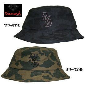 Diamond SUPPLY.CO ( ダイヤモンドサプライ ) SERIF BUCKET HAT Blk ca/Olv ca (スケートボード スケボー SK8 STARTER 帽子 キャップ)