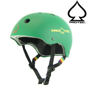 PRO TEC プロテック Classic Certified Rubber Rasta Green スケボー BMX 自転車 プロテクター ヘルメット