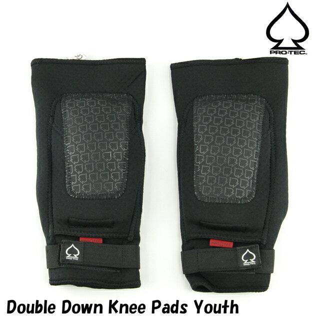 PRO-TEC プロテック Double Down Knee Pads Youth スケートボード スケボー パッド プロテクター 防具