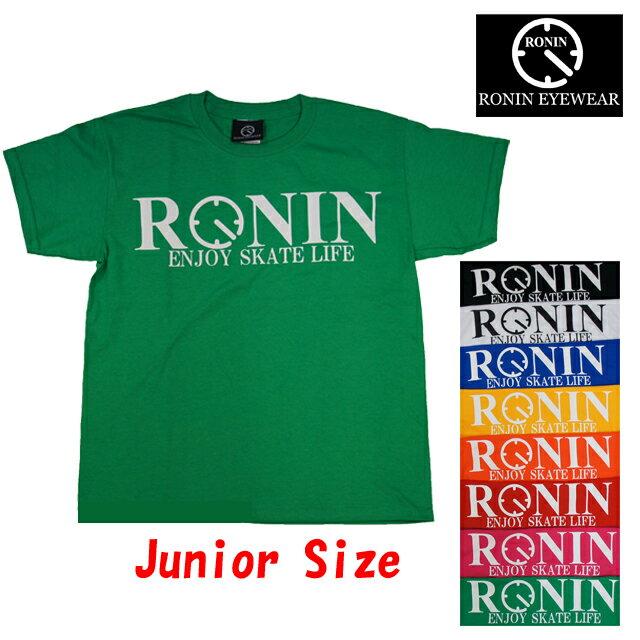 Ronin Eyewear ( ロニンアイウェアー ) ENJOY SKATE LIFE S/Sleeve Junior Tee キッズ スケボー サングラス ロニン アイウェアー Tee Tシャツ