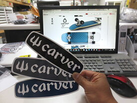 Carver カーバー OG Logo Bar Sticker 5.6×18 サーフスケート スケートボード サーフィン ステッカー シール