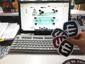 メール便120円可Carver カーバー Mark Logo Sticker 6.5×7.8 スケートボード スケボー ステッカー シール