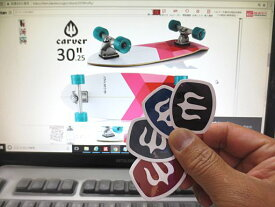 メール便120円可Carver カーバー Mark Logo Sticker 3.5×4スケートボード スケボー ステッカー シール