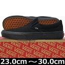 VANS バンズ ヴァンズ Classic Slip-On (Black/Black 23-31cm)スケートボード スケボー クラシック スリッポン キャンバ...