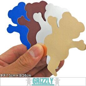 GRIZZLY( グリズリー) Bear logo STIKER (タテ7.5cm×ヨコ6cm)( スケートボード スケボー SKATEBOARD ダイヤモンド クマ シール ステッカー )