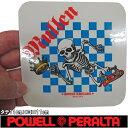 POWELL PERALTA ( パウエル ペラルタ ) Mullen Chess Sticker (1カラー)(タテ11cm×ヨコ11cm) ( スケートボード スケ…