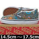 VANS ( バンズ ) Kids Classic Slip-On ( Van Doren ) Holiday/Pewter (14.5-17.5cm) ( ば...