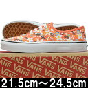VANS バンズ Kids Authentic Floral Pop Living coral オーセンティック 靴 シューズ キッズ 子供