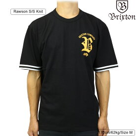 Brixton ブリクストン Rawson S/S Knit (Black) ローソン メンズ ストリート 半袖 ニット シャツ