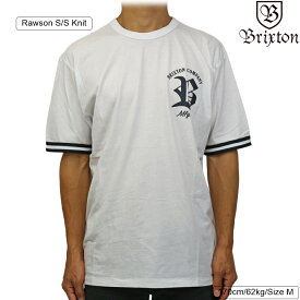 Brixton ブリクストン Rawson S/S Knit (White) ローソン メンズ ストリート 半袖 ニット シャツ