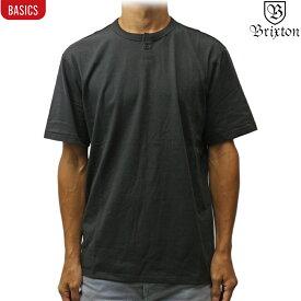 Brixton ブリクストン ヘンリーネック 半袖 Basic S/S Henley ウォッシュブラック サーフ スケート スノー ベーシック メンズ シャツ
