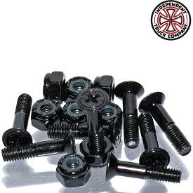 """Independent インディペンデント ボルト ナット Genuine Parts Phillips Hardware Black 7/8"""" 1"""" 1.25"""" 1.5"""" スケートボード スケボー パーツ 純正 Indy"""