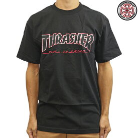 Independent インディペンデント 半袖 Tシャツ Thrasher TTG S/S Tee Black スラッシャー コラボ スケートボード スケボー