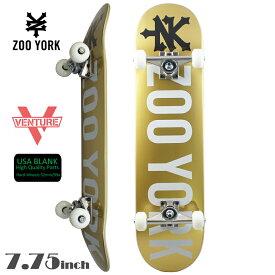 スケボー スケートボード コンプリート 7.75 ZOO YORK ズーヨーク PREMIUM COMPLETE PHOTO INCENTIVE Gold 初心者 上級者 おすすめ ベンチャー 足回り