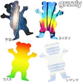 スケートボード スケボー ステッカー Grizzly OG Bear XL 約12.5x10cm グリズリー シール クマ ベアー 熊