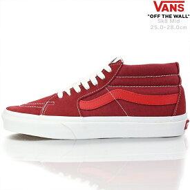 Vans バンズ スニーカー Sk8 Mid Retro Sport Biking Red / Poinsettia 25-28cm スケートミッド ミドルカット ヴァンズ ブランド メンズ 靴 シューズ