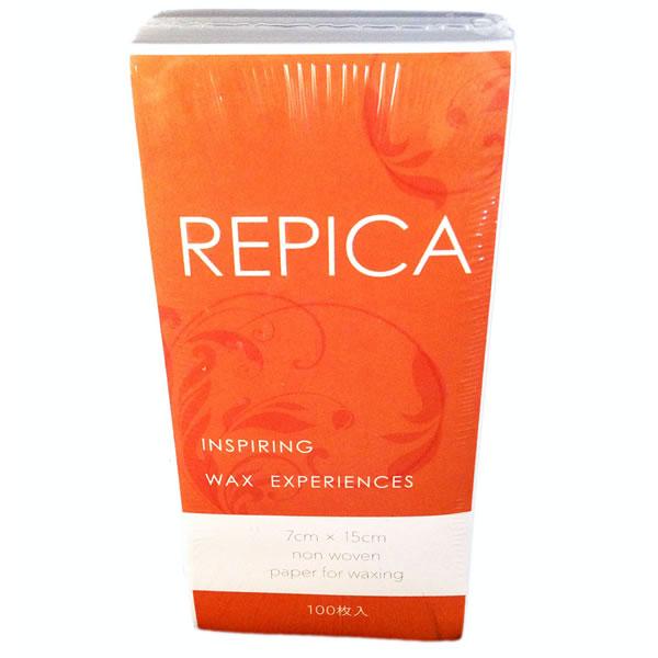リピカ カットワックスペーパーM 100枚入り 20個セット 【送料無料】 REPICA サイズ 7cmx15cm すぐ使える カットタイプ ワックスシート ブラジリアンワックス ペーパー