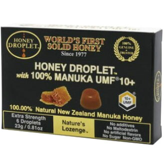 Honeydroplet UMF Manuka honey 10 + 1 box (6 tablets) 37 honey candy 100% honey Japan honey throat lozenges all of Manuka honey