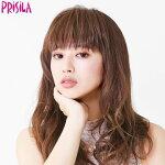 ウィッグ前髪ウィッグぱっつんシャギーちゃんFX-06(PRISILAプリシラウィッグ)モデル:宮城舞ウィッグポイントつけ毛かつら耐熱