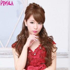プリシラ ハーフキャップ【姫盛りロングカール】J-808耐熱 (送料無料)