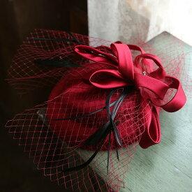 トークハット トーク帽 レディース ベール付き フォーマル ウェディングヘッドドレス 髪飾り 礼装帽子 カクテル帽 結婚式 披露宴 パーティー ブラック ホワイト ワインレッド カーキ ブルー th078h