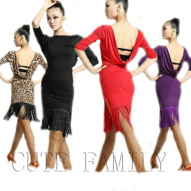 0b777ce05a163 フリンジラテンダンス衣装 社交ダンス衣装 ワンピース 女性用 DANCE 練習着ダンスウェア
