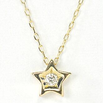 K10、 钻石 0.03 ct 星吊坠 1 片项链星型项链钻石首饰天然钻石