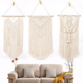 マクラメ タペストリー 手編み 綿ロープ織り タッセルタペストリー 手作り 北欧風 ボヘミアンスタイル オシャレ 壁掛け 織物装飾 ホーム飾り インテリア ホームデコレーション 手作り クラフト