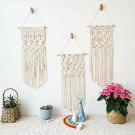 タペストリー 北欧 ハワイアン雑貨 壁掛けインテリア 手編み 綿ロープ織り タッセルタペストリー 手作り 北欧風 ボヘミアンスタイル オシャレ 壁掛け 織物装飾 ホーム飾り インテリア ホームデコレーション 手作り クラフト