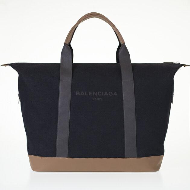 バレンシアガ ボストンバッグ BALENCIAGA キャンバス/レザー 433672 KLX4N 1070 NOIR/MARRON BOIS ブラック ロゴ メンズ レディース